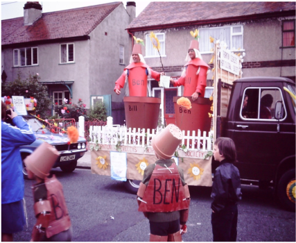 TCHS Gala float - Bill and Ben the Trade Hut Men -1980