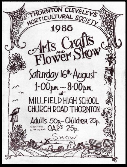 TCHS Show Schedule 1986