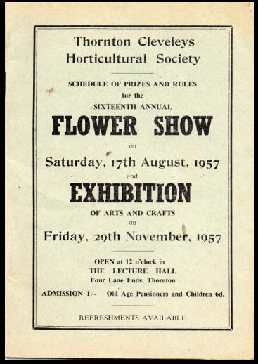 TCHS-Show Programme 1957