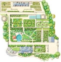 Yewbarrow House gardenmap